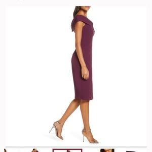 Eliza J Dresses - NWT Eliza J Plum Off The Shoulder Dress